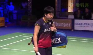 山口茜VS因达农 2015碧特博格公开赛 女单半决赛视频