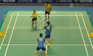 黄凯祥/黄东萍VS王齐麟/余芊慧 2015韩国黄金赛 混双1/16决赛视频