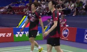 李龙大/柳延星VS彼德森/科丁 2015法国公开赛 男双决赛视频