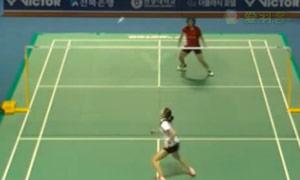 江梅惠VS 亚娜 2015韩国黄金赛 女单1/16决赛视频