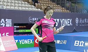 李蔷美VS金效旻 2015中华台北羽毛球黄金赛 女单决赛视频