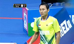 索尼VS王子维 2015中华台北羽毛球黄金赛 男单决赛视频