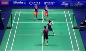 刘成/包宜鑫VS园田启悟/福万尚子 2015中国公开赛 混双1/16决赛视频