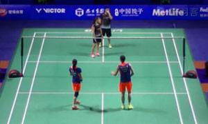 张楠/赵芸蕾VS周菲利/杰米 2015中国公开赛 混双1/16决赛视频
