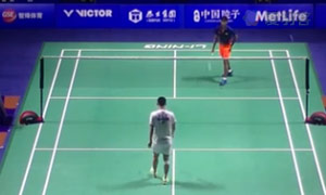 胡赟VS斯里坎特 2015中国公开赛 男单1/16决赛视频