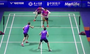 鮑伊/摩根森VS云天豪/林欽華 2015中國公開賽 男雙1/16決賽視頻
