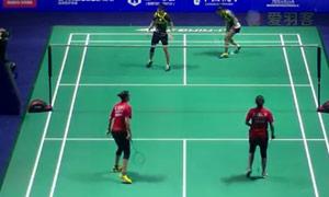 艾米利亚/宋佩珠VS哈尼胡斯尼 2015中国公开赛 女双1/16决赛视频