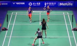 田卿/赵芸蕾VS奥利弗/L.史密斯 2015中国公开赛 女双1/16决赛视频