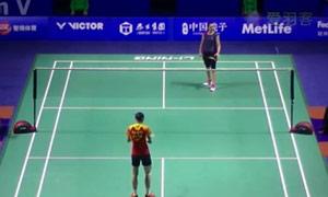 王仪涵VS胡斯尼 2015中国公开赛 女单1/16决赛视频