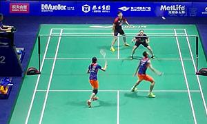 张楠/赵芸蕾VS李龙大/李绍希 2015中国公开赛 混双1/8决赛视频