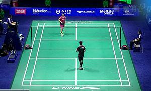 孙完虎VS桃田贤斗 2015中国公开赛 男单1/8决赛视频