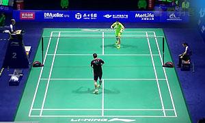 石宇奇VS李东根 2015中国公开赛 男单1/8决赛视频