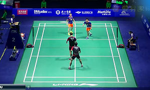 高成炫/申白喆VS刘小龙/邱子瀚 2015中国公开赛 男双1/8决赛视频