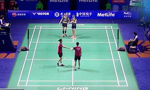 张艺娜/李绍希VS佩蒂森/尤尔 2015中国公开赛 女双1/4决赛视频