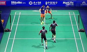 柴飚/洪炜VS高成炫/申白喆 2015中国公开赛 男双半决赛视频
