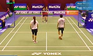 数野健太/栗原文音VS阿伯德拉曼/胡斯尼 2015香港公开赛 混双1/16决赛视频