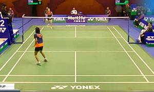蓬迪VS大堀彩 2015香港公开赛 女单1/16决赛视频