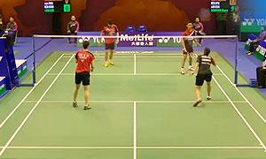 亚历山大/奥克塔维亚尼VS李龙大/李绍希 2015香港公开赛 混双1/16决赛视频