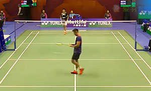 林丹VS穆斯托法 2015香港公开赛 男单1/16决赛视频