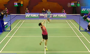 蓬迪VS曾颖秋 2015香港公开赛 女单1/8决赛视频