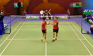 金基正/金沙朗VS柯展聰/鄧俊文 2015香港公開賽 男雙1/8決賽視頻