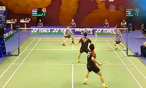 李龍大/柳延星VS費爾納迪/蘇卡穆約 2015香港公開賽 男雙1/4決賽視頻