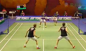 鲍伊/摩根森VS普拉塔玛/苏华迪 2015香港公开赛 男双1/4决赛视频