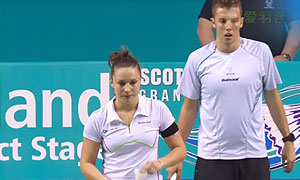 杜尔金/维斯洛娃VS加埃唐/奥德丽 2015苏格兰公开赛 混双半决赛视频