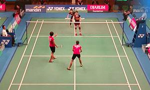 许嘉雯/温可微VS哈里斯/萨里 2015印尼大师赛 女双1/8决赛视频