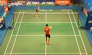 梁晓宇VS安古尼 2015印尼大师赛 女单1/8决赛视频
