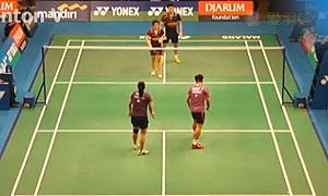 哈菲兹费萨尔/奥莉亚VS黄辉颖/邹美君 2015印尼大师赛 混双1/8决赛视频
