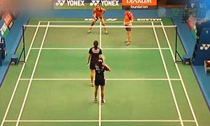 安迪妮/玛撒VS艾米利亚/宋佩珠 2015印尼大师赛 女双1/8决赛视频