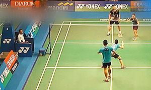 乔丹/苏珊托VS弗兰/科马拉 2015印尼大师赛 混双1/4决赛视频