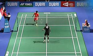 约根森VS田厚威 2015世界羽联总决赛 男单小组赛视频