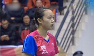 朱聪琳VS王思仪 2016中国羽超联赛 女单小组赛第3轮视频