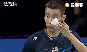 魏楠VS李宗伟 2015丹麦公开赛 男单1/8决赛 低视角视频