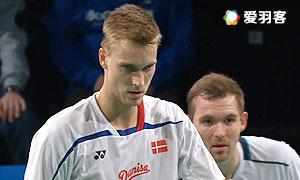 瓦赫尤那亚卡/尤苏夫VS彼德森/科丁 2015哥本哈根大师赛 男双半决赛视频