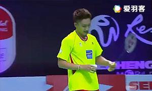 桃田贤斗VS张育汉 2015紫盟联赛 男单小组赛视频