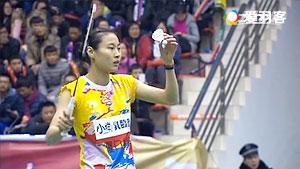 王仪涵VS彭沁 2016中国羽超联赛 女单小组赛视频