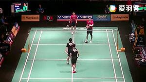 佐伯裕行/垰畑亮太VS博丁/尼迪蓬 2016马来黄金赛 男双1/8决赛视频