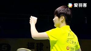陈雨菲VS姚雪 2016中国羽超联赛 女单半决赛视频