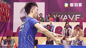 黄宇翔VS石宇奇 2016印度羽毛球黄金赛 男单半决赛视频