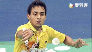 维尔马VS番纳怀特 2016印度羽毛球黄金赛 男单资格赛视频