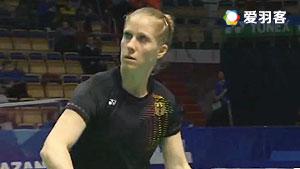 施纳泽VS杰克斯菲德 2016欧洲团体锦标赛 女单半决赛视频