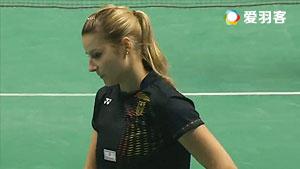 马德森VS德普莱兹 2016欧洲团体锦标赛 女单半决赛视频