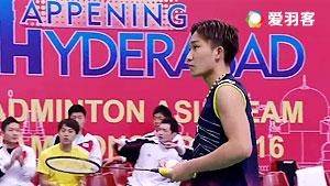 桃田贤斗VS穆斯托法 2016亚洲团体锦标赛 男单决赛视频
