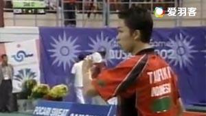 陶菲克VS李炫一 2002年釜山亚运会男团