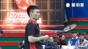 刘瀚滔VS朱志强 2016贺岁杯对抗赛 男单小组赛视频