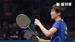 陈雨菲VS王苑力 2016新西兰公开赛 女单1/8决赛视频