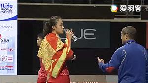 孙瑜VS成池铉 2016新加坡公开赛 女单1/4决赛明仕亚洲官网